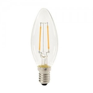 Led filament E14 kaarslamp warm wit/2700K 1W (B35) - SALE