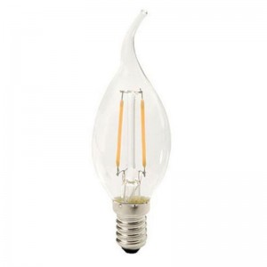 Led filament E14 kaarslamp warm wit 2.5W dimbaar (B35)