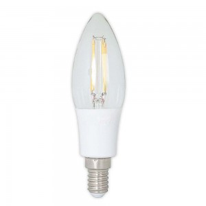 Led filament E14 kaarslamp warm wit/2700K 2.5W dimbaar (B35) - SALE