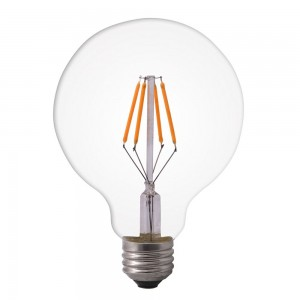 Led filament E27 globe warm wit/2700K 6W dimbaar (G125) - SALE