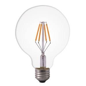 Led filament E27 globe warm wit 6W dimbaar (G125)
