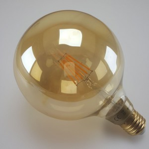 Led filament E27 globe flame 6W dimbaar (G125)