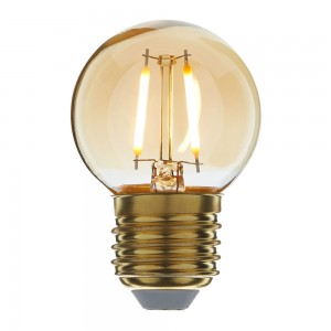 Led filament E27 kogellamp flame 1W (G45)