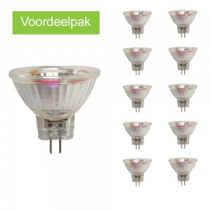 Voordeelpak 10x GU4 led spot 35mm (MR11) 2700K/warm wit