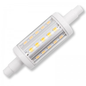 R7S led 78mm, dimbaar, 2700K/warm wit, 5W=50W