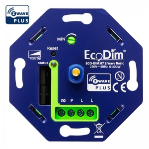 Z-Wave led dimmer draai 0-200W, voor alle afdekmateriaal - Basic